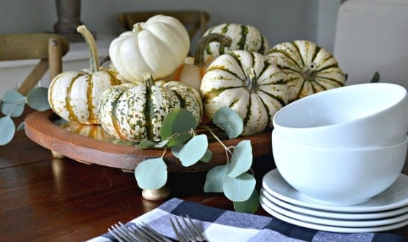Easy Fall Centerpiece with a Thrifted Antique Mirror