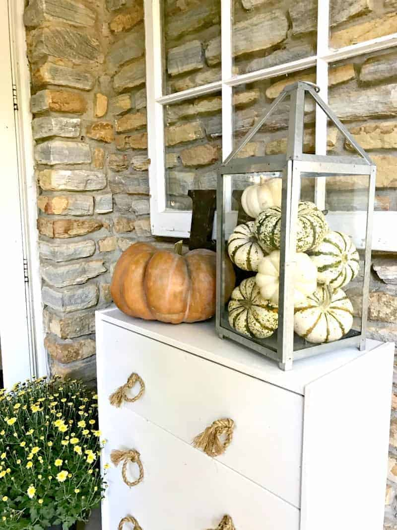 A fall front porch for this month's cottage musings for October