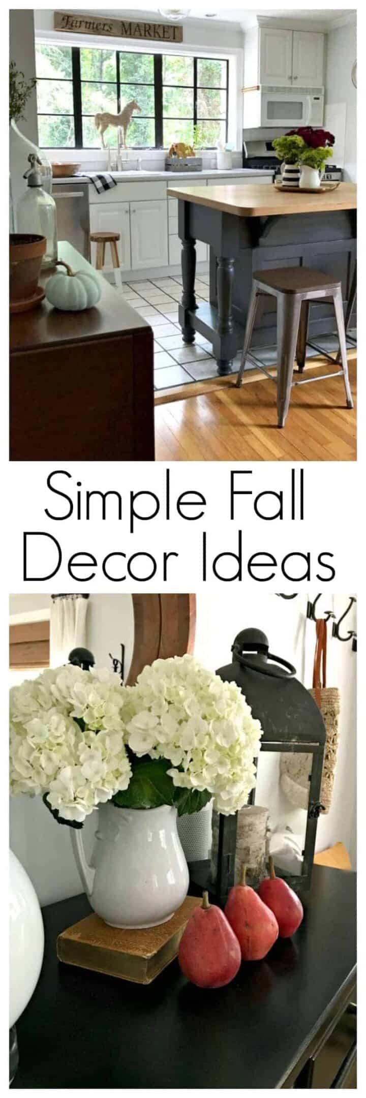 fall decor in small home