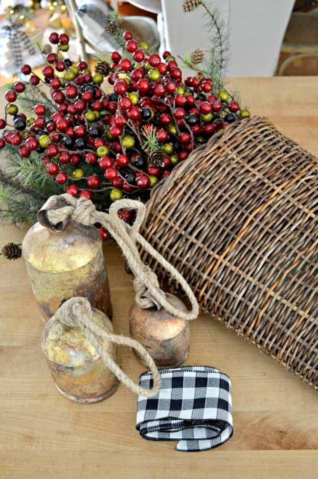 How to create a simple DIY Christmas front door basket, with a few supplies, to add holiday color to your front door.