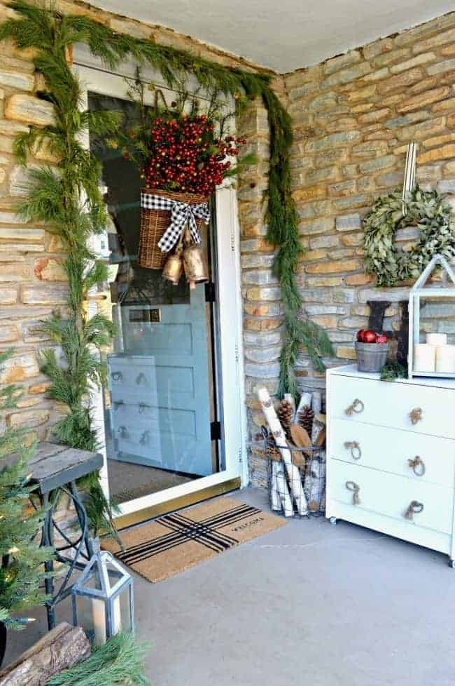 christmas front porch and chest