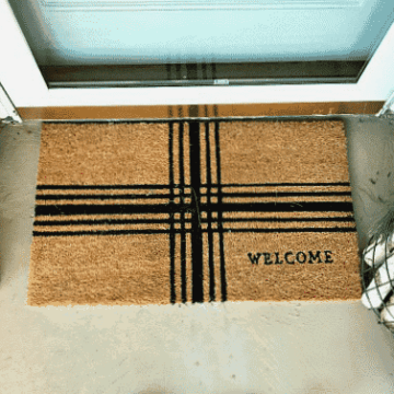 front porch welcome mat