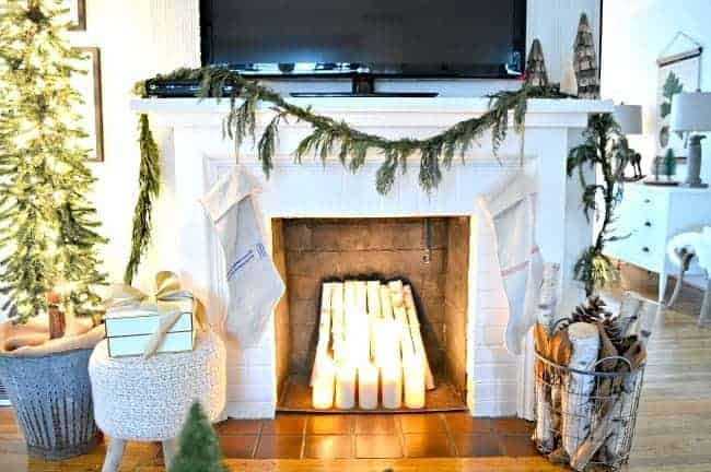 Sharing cottage Christmas decor with a tour of the living room, plus some easy Christmas decorating tips.
