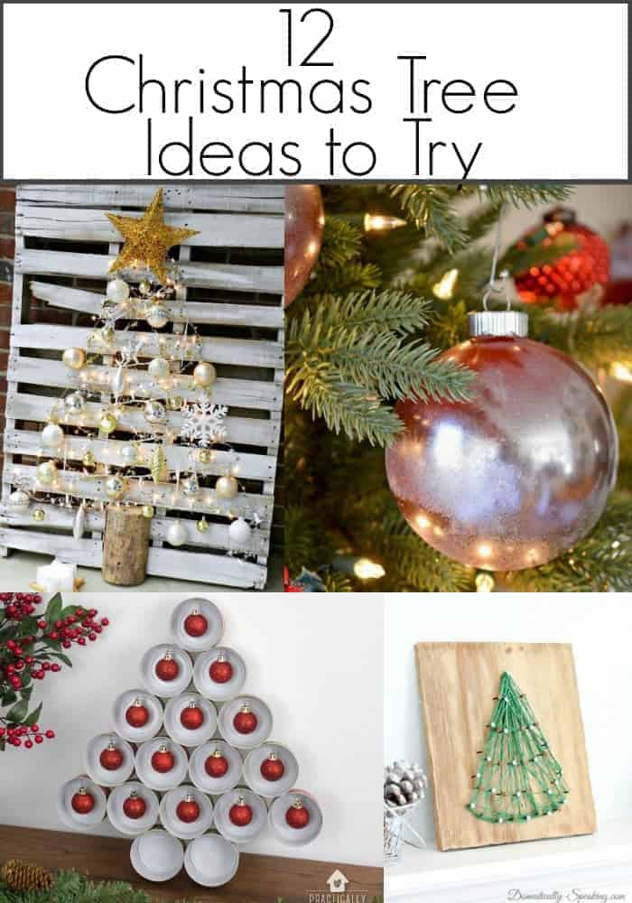 12 creative Christmas tree ideas to try from pallet trees to fun and easy ornaments.