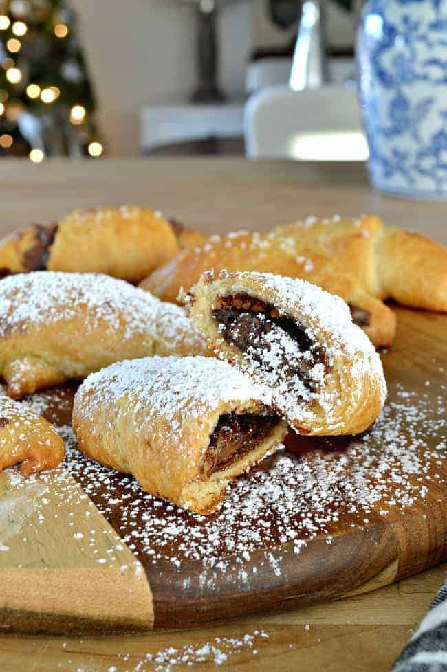 Try this quick, easy and totally tasty breakfast treat. Sweet and salty Nutella crescent rolls with just 4 ingredients.