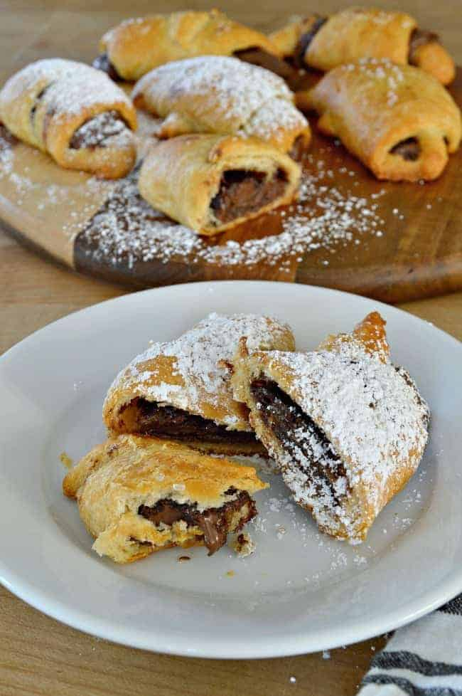 For a totally tasty breakfast treat, make these easy sweet and salty Nutella crescent rolls in 15 minutes, with just 4 ingredients.