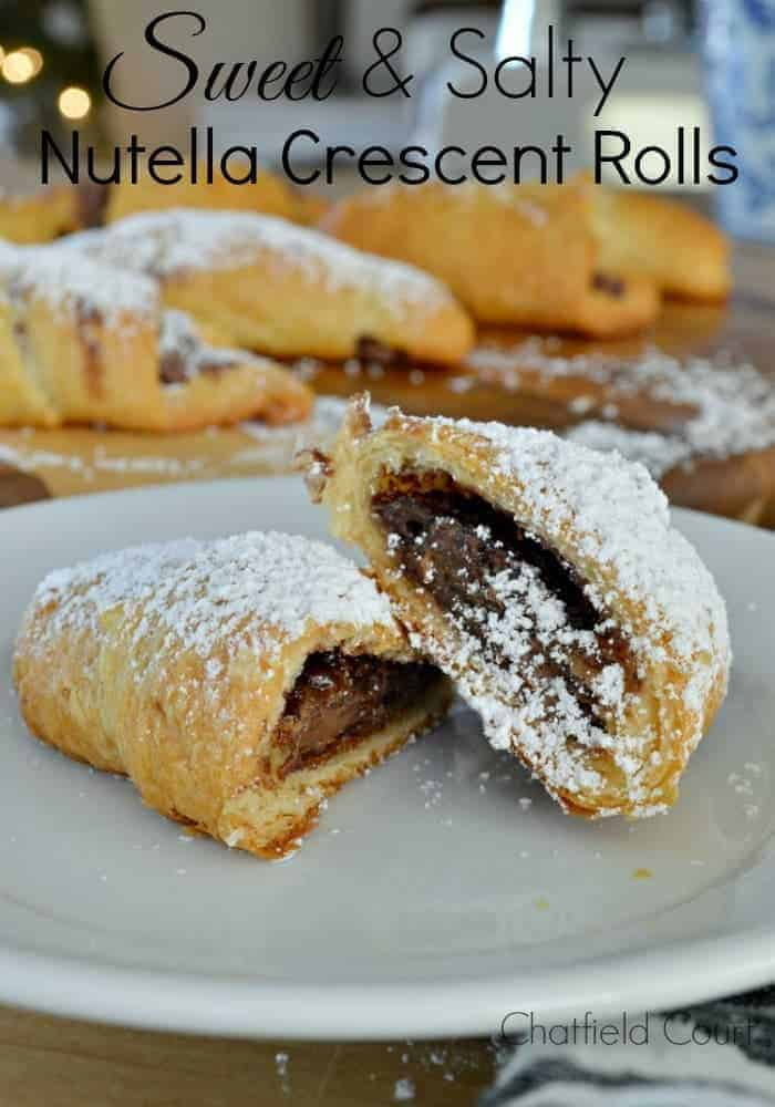 For a quick, easy and tasty breakfast treat, make these sweet and salty Nutella crescent rolls with just 4 ingredients.