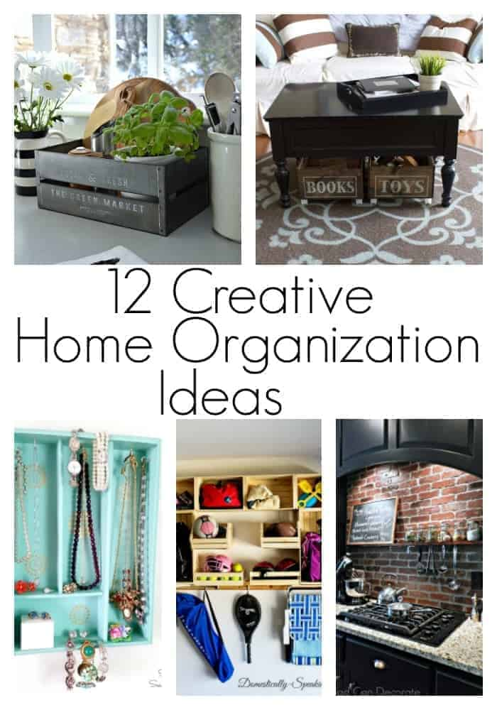 12 easy and creative home organization ideas to help put your home in order in the new year.