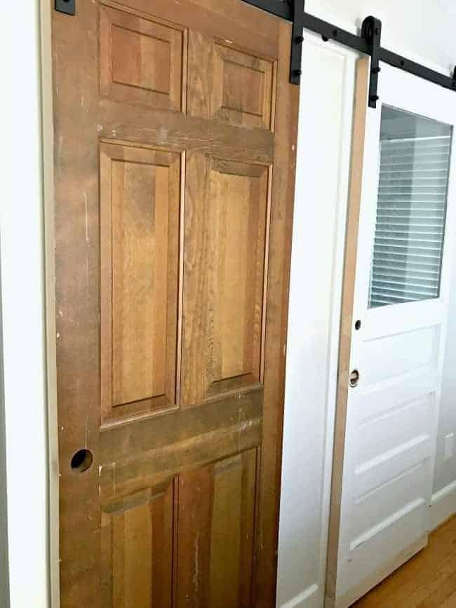 solid wood closet door before paint