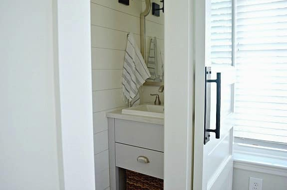 Bedroom Closet Turned into a Small Powder Room