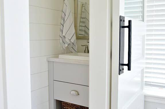 How to Turn a Bedroom Closet into a Small Powder Room – An Amazing Transformation