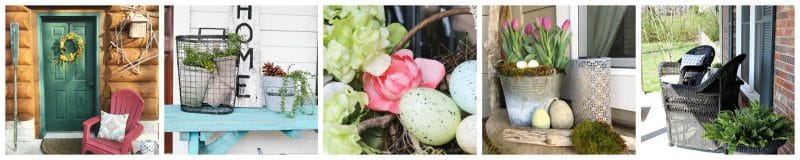 eggs in a basket with flowers