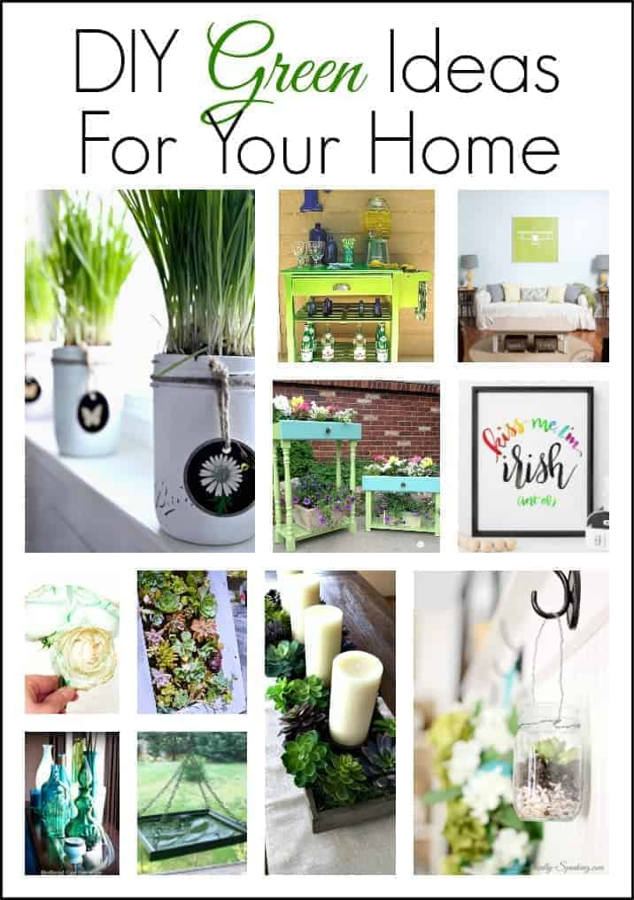 graphic showing 11 easy DIY green ideas for your home