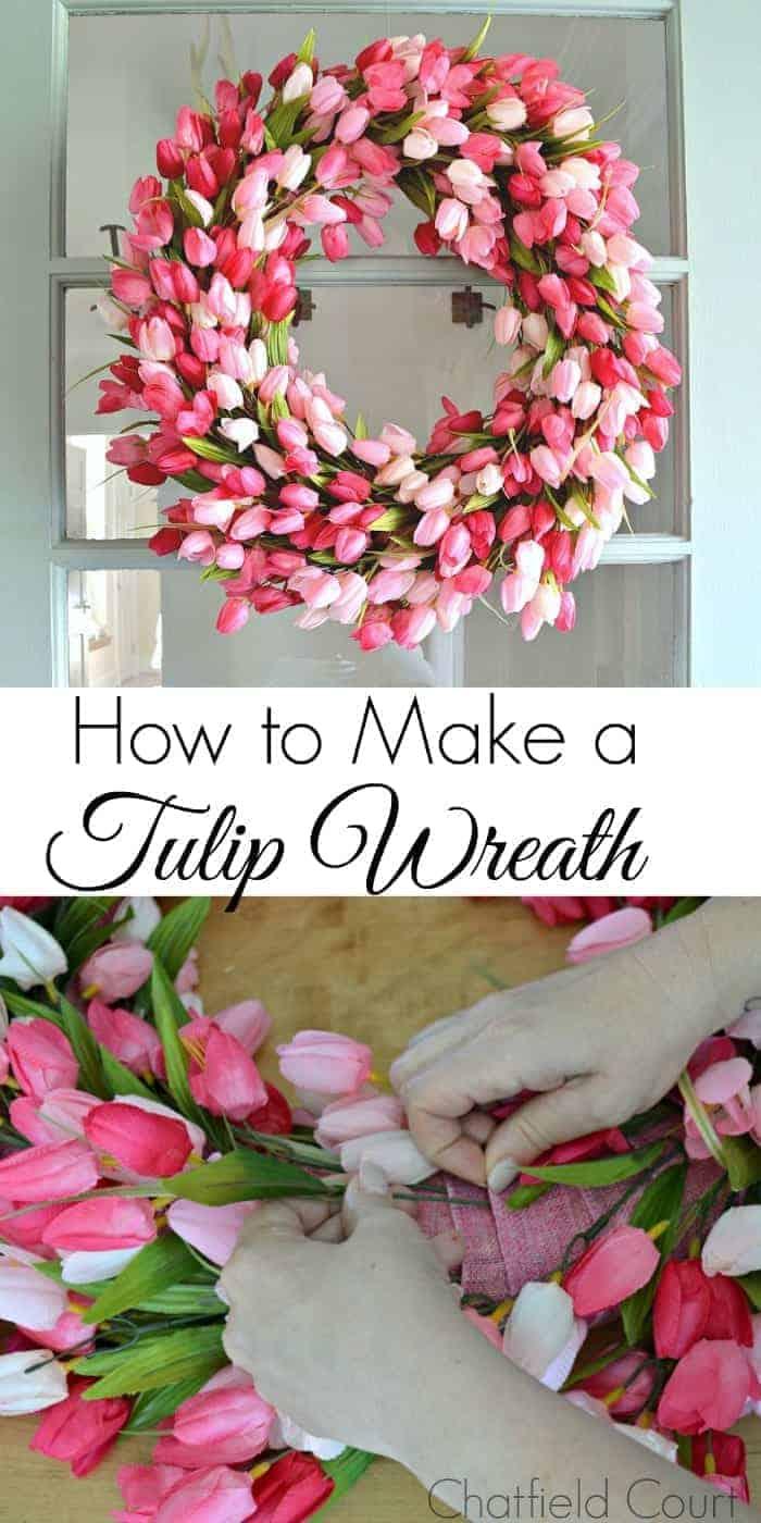 how to make a front door wreath