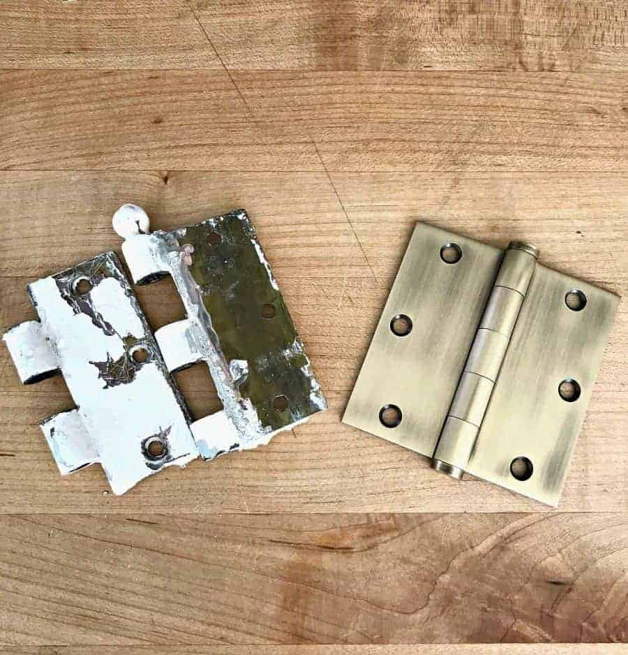 Old Door Hinge And New Door Hinge
