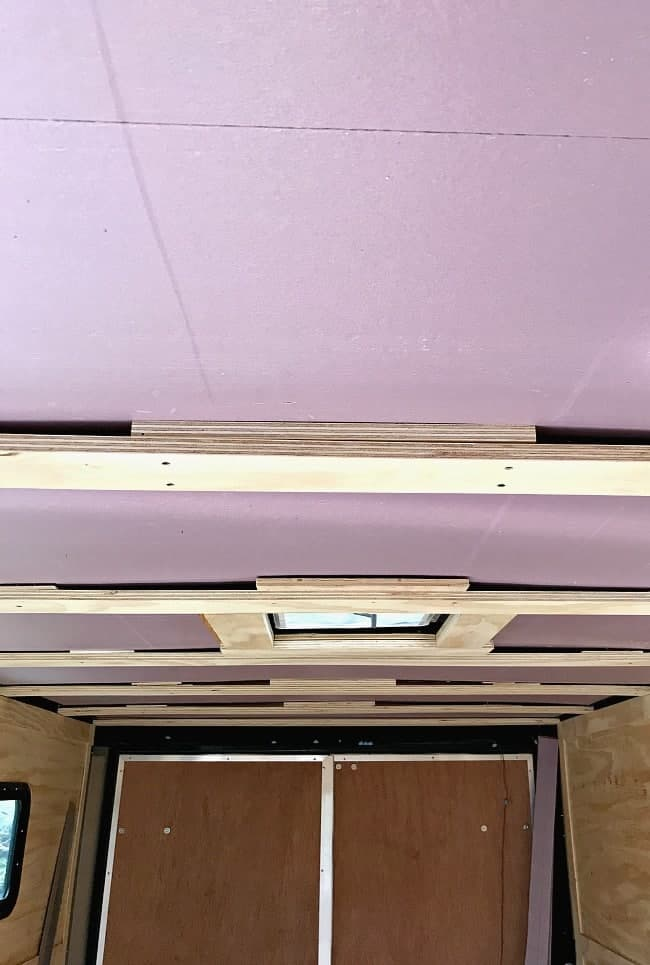 rigid insulation installed in ceiling in RV