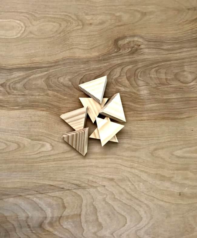 wood triangles