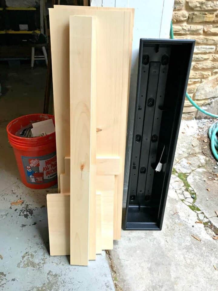wood cut for DIY wood planter