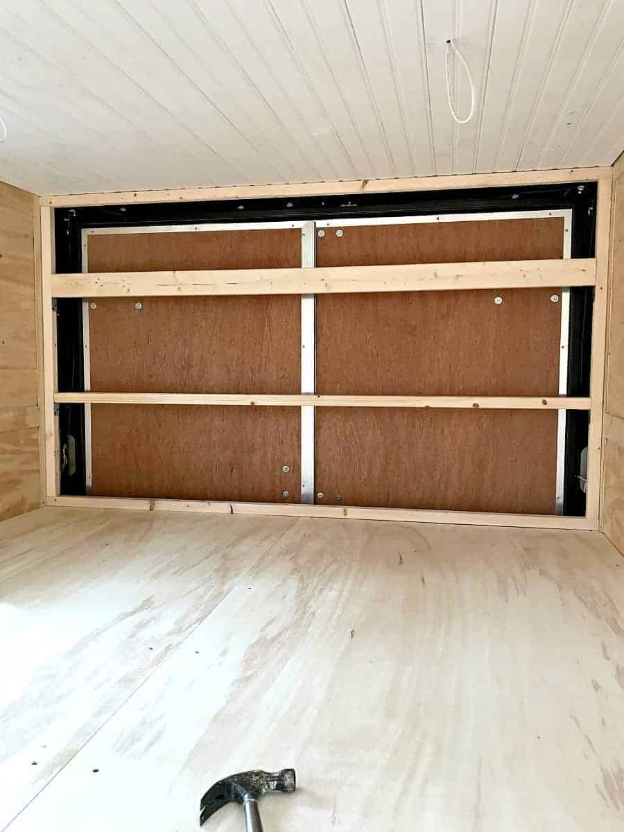 framing for wall in back of trailer for our RV renovation