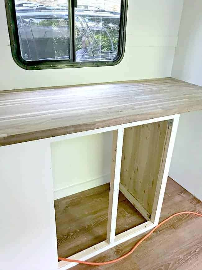 maple butcher block countertop for our RV renovation