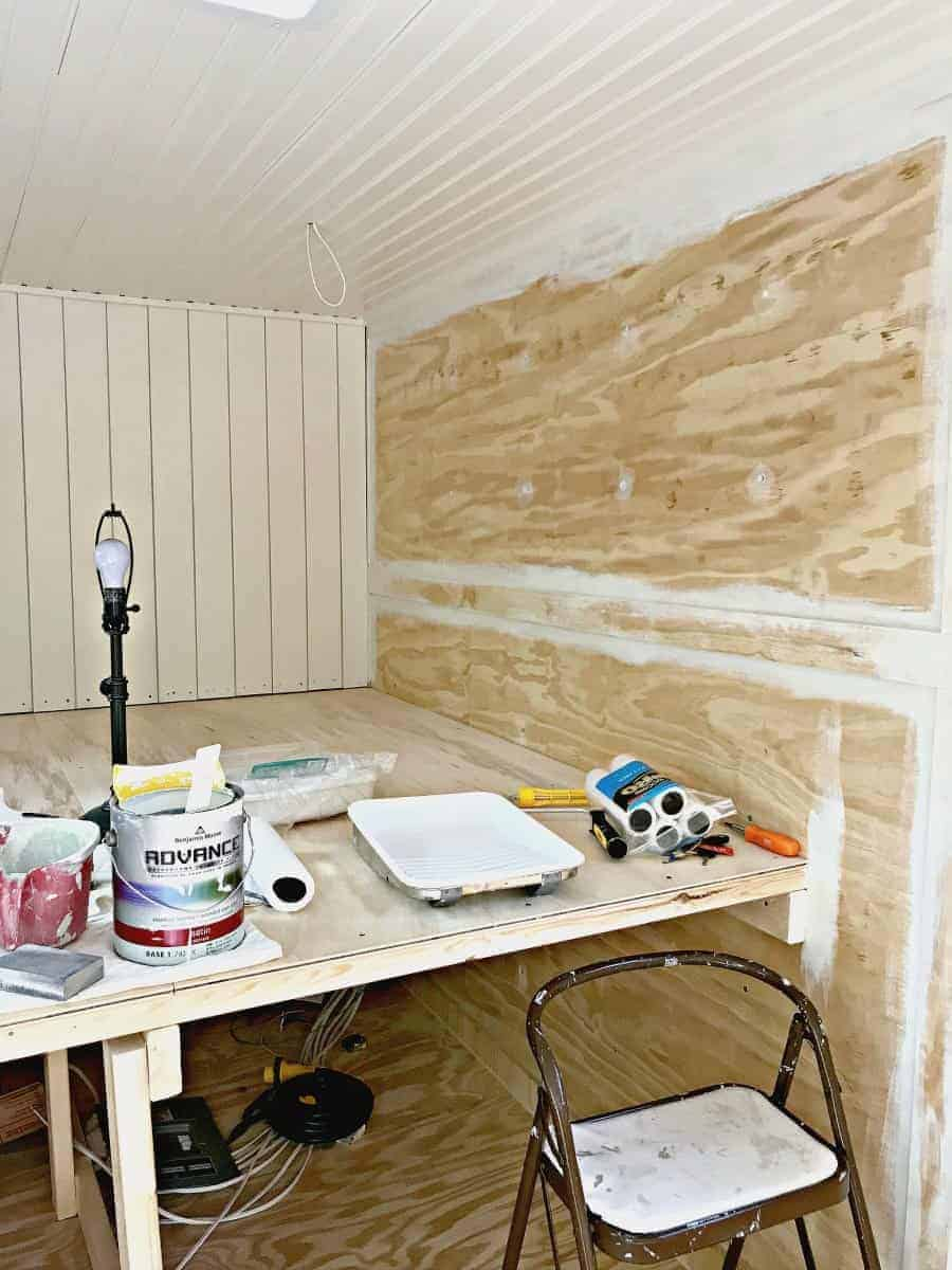 painting plywood walls for our RV renovation