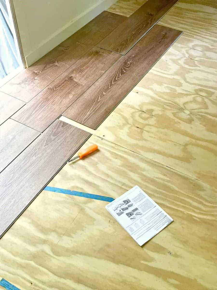 new laminate plank flooring for our RV renovation