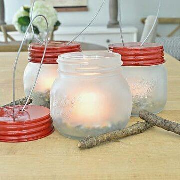 DIY jar Lantern