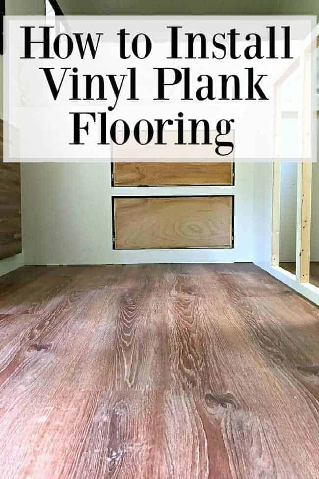 vinyl plank floor in RV and how to install vinyl plank flooring graphic