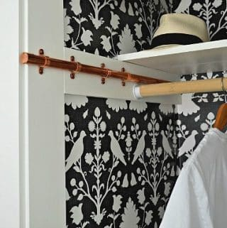 DIY Copper Pipe Sliding Clothes Rod