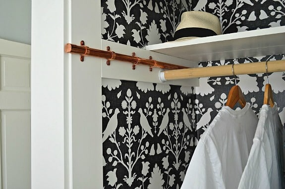make a diy sliding clothes rod for a bedroom closet. Black Bedroom Furniture Sets. Home Design Ideas
