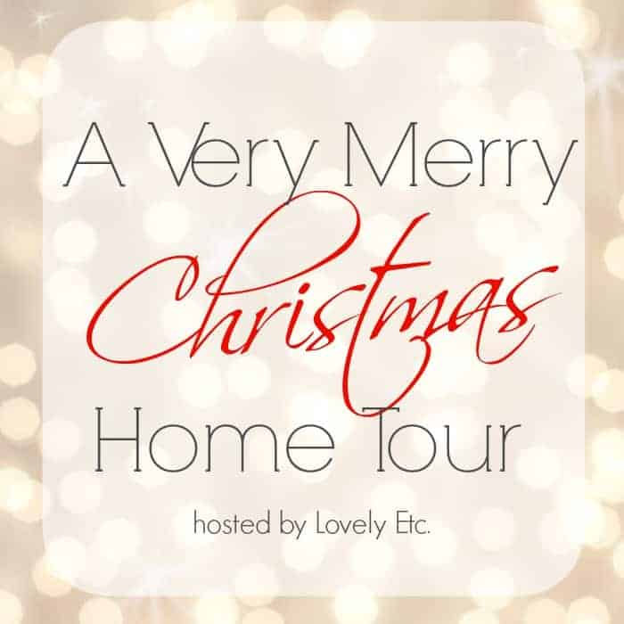 a very merry Christmas home tour graphic