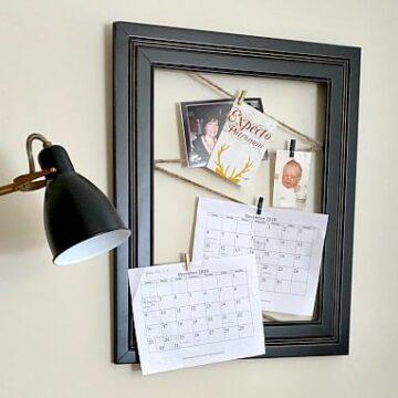 black frame message board