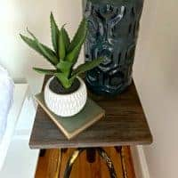Easy DIY Nightstand from a Thrift Store Stool