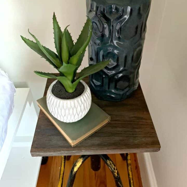 Easy Diy Nightstand From A Thrift Store Stool Chatfield