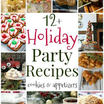 collage of holiday recipes