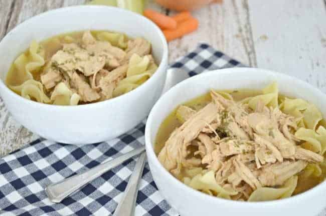 A bowl Chicken Noodle soup