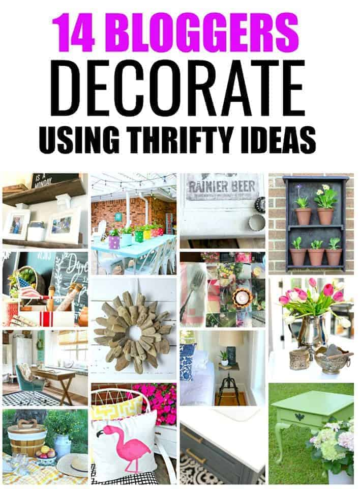 collage of thrifty decor ideas