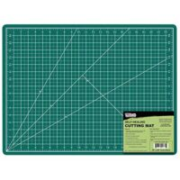 "US Art Supply 18"" x 24"" GREEN/BLACK Professional Self Healing 5-Ply Double Sided Durable Non-Slip PVC Cutting Mat Great for Scrapbooking, Quilting, Sewing and all Arts & Crafts Projects"