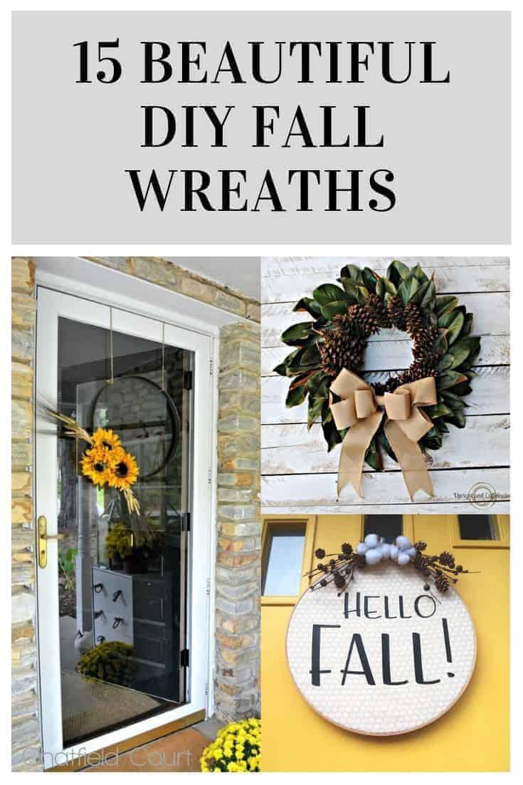 15 beautiful diy fall wreaths pinterest collage