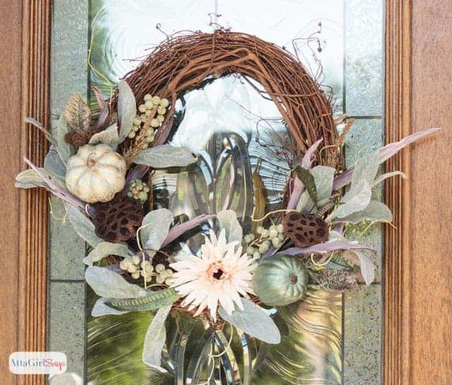 Grapevine & Pumpkins Fall Wreath