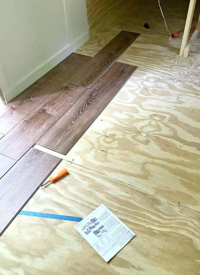 installing vinyl plank flooring in an cargo trailer