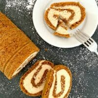 Easy Pumpkin Roll with Mascarpone Cream Filling