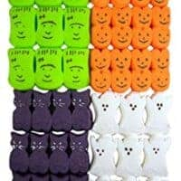 Halloween Peeps Variety Pack with Monsters, Ghosts, Pumpkins, and Spooky Cats, 3.375 oz, Pack of 4