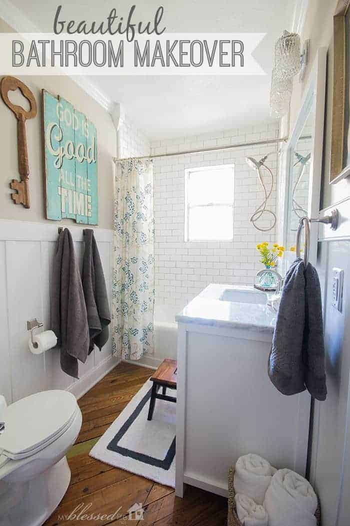 Beautiful Cottage-Style Bathroom Makeover