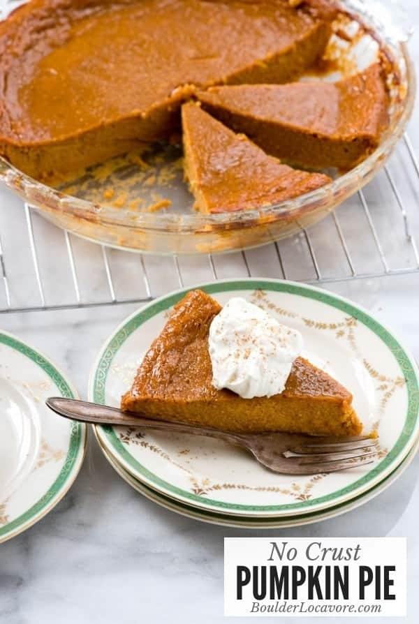 No Crust Pumpkin Pie is an easy creamy custard pie