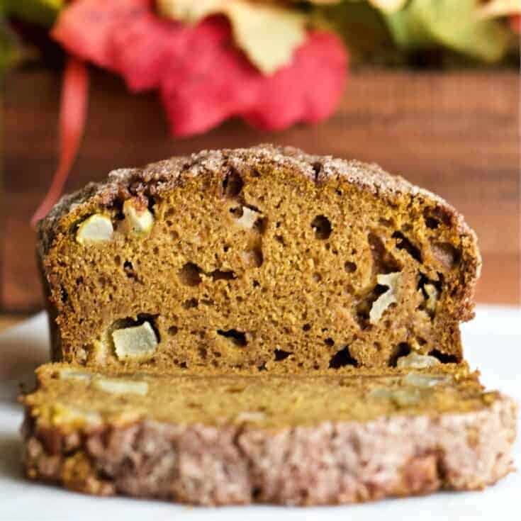 Pumpkin Apple Spice Bread with streusel