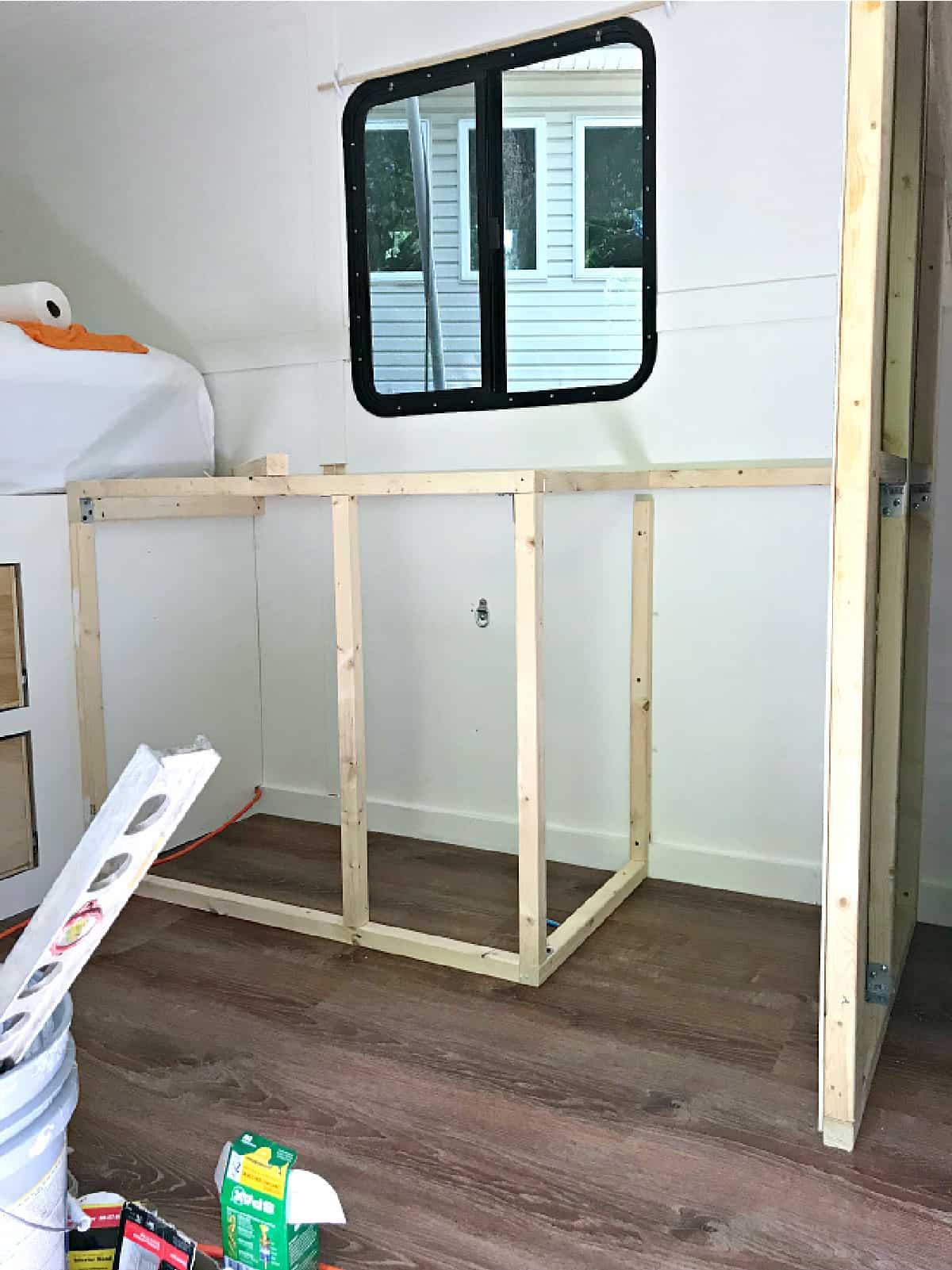 frame for RV kitchen cabinets