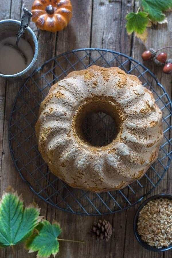 Maple Glazed Pumpkin Cinnamon Cake