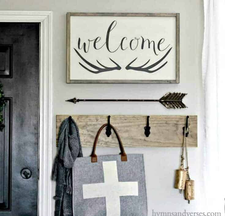 Winter Entry - Welcome Antlers Sign