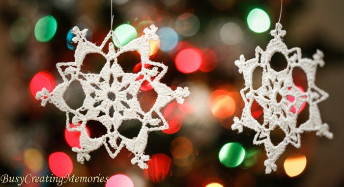 Lace Crochet Snowflake Ornaments Free Pattern